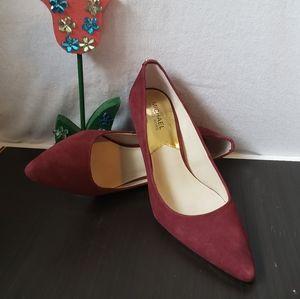 Michael kors burgundy shoes size 9 M